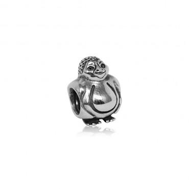 "Подвеска-шарм ""Пингвин"", серебро 925"