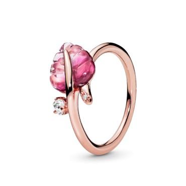 Кольцо Розовые листья