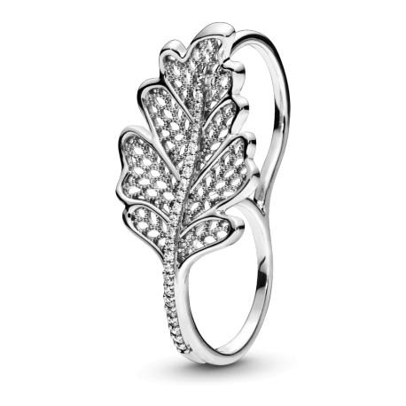 Кольцо на два пальца Листик дуба