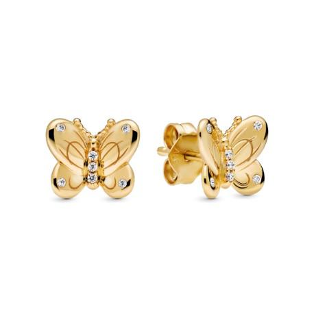 Серьги-пусеты Бабочка