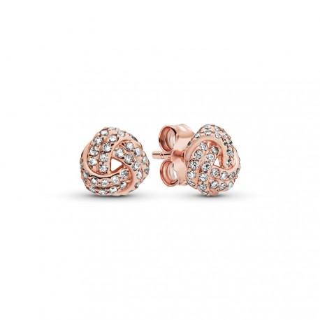 Серьги-гвоздики PANDORA Rose Искрящиеся узелки любви