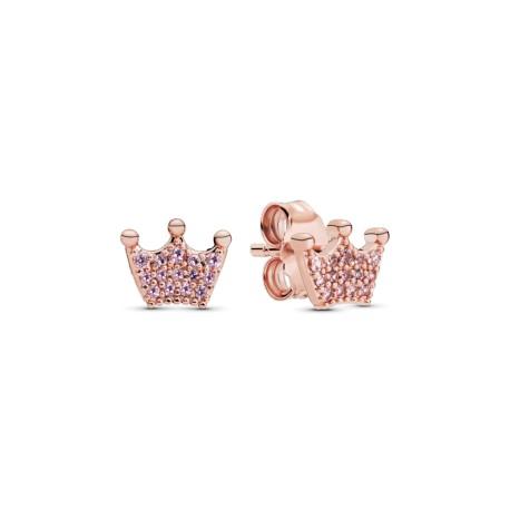 Серьги-гвоздики PANDORA Rose Прелестные розовые короны
