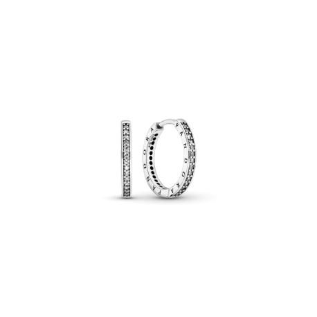 Серьги с логотипом Pandora