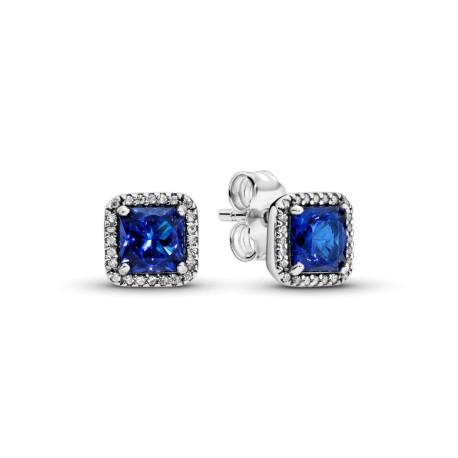Серьги-гвоздики Синяя вечная элегантность