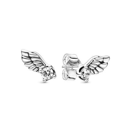 Серьги-гвоздики Сверкающик крылья ангела