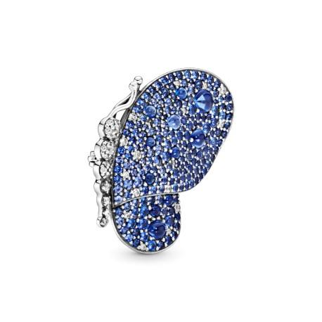 Подвеска-брошь Ослепительная синяя бабочка
