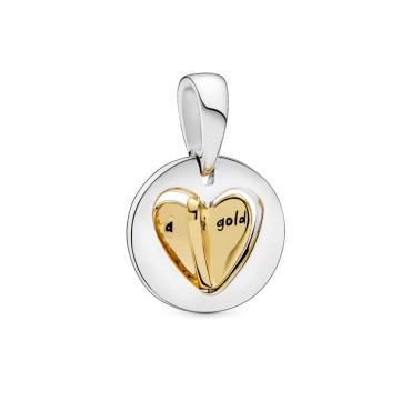 Шарм-подвеска Золотое сердце матери