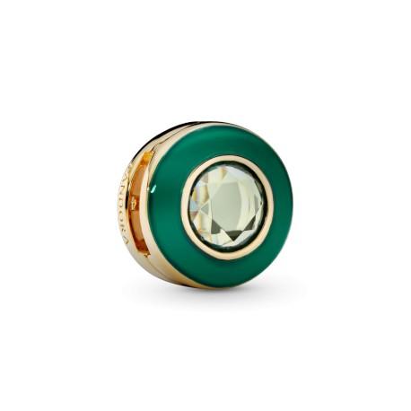 Клипса Зеленый сияющий круг