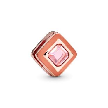 Клипса Rose Розовый сияющий ромб