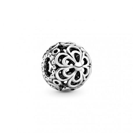Серебряная подвеска-шарм с филигранью, большая. Цветок яблони