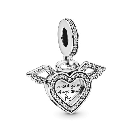Шарм-подвеска Сердце и крылья ангела