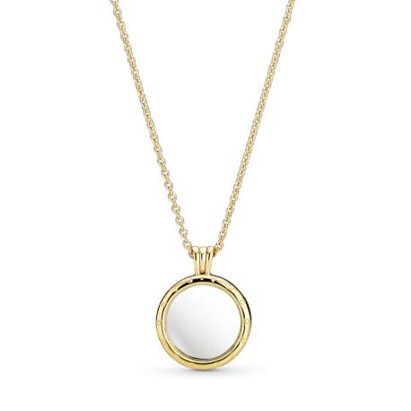 Колье с прозрачным медальоном Pandora