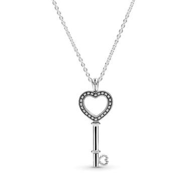 Колье с медальоном Ключ к сердцу